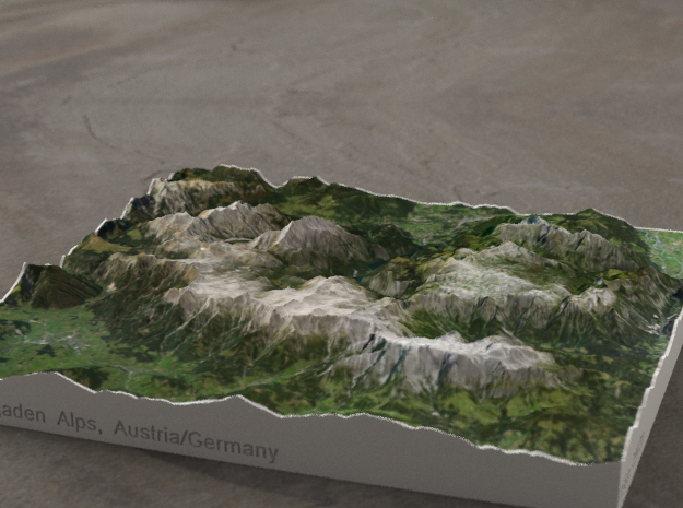 Berchtesgaden Alps, Austria/Germany, 1:187500 in Full Color Sandstone