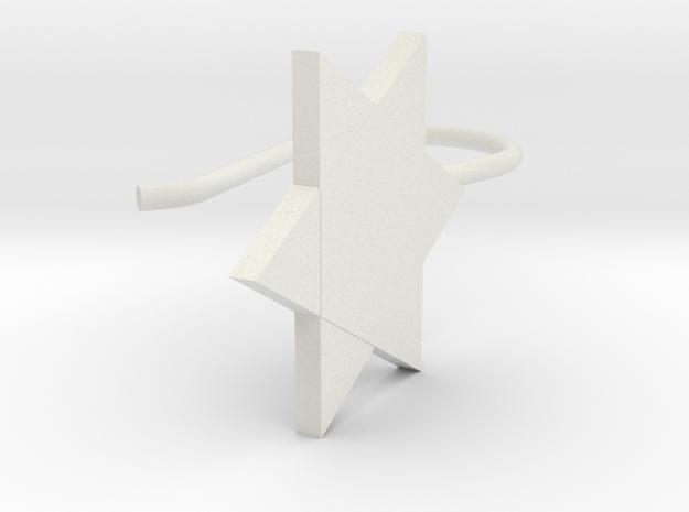 Custom Star Earring With Hook in White Natural Versatile Plastic