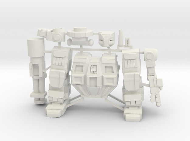 Goliath on sprue in White Natural Versatile Plastic