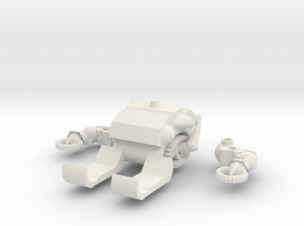 MOD BOT  PART ADD-ON (ICE CRUSHER) in White Natural Versatile Plastic: Large