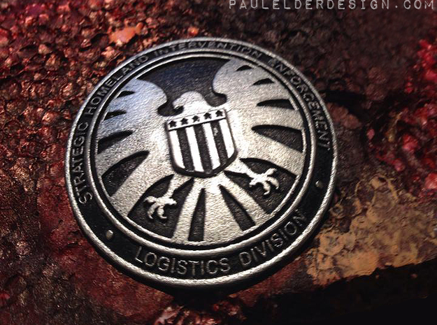 Shield badge in Frosted Ultra Detail