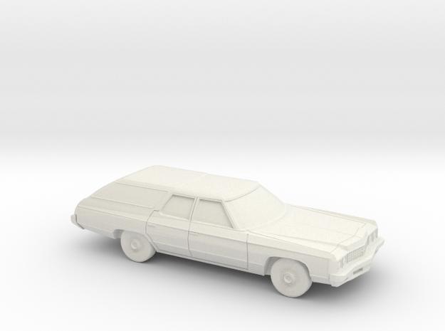 1/87 1973 Chevrolet Kingswood Station Wagon in White Natural Versatile Plastic