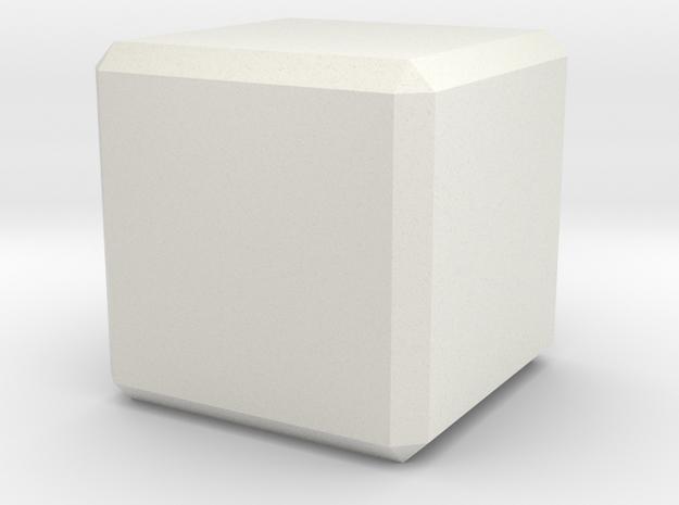 Custom Cube in White Natural Versatile Plastic