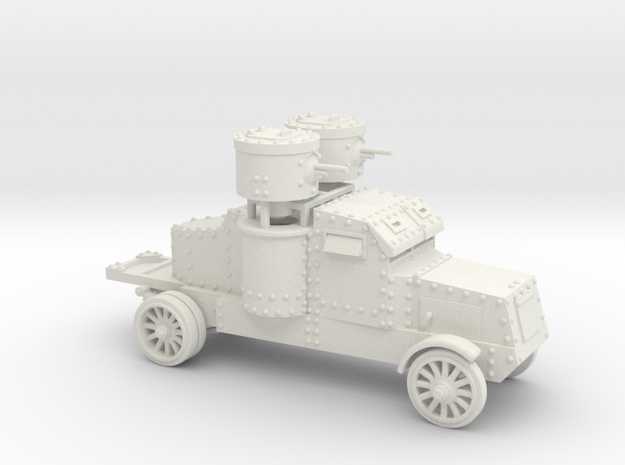 Peerless Armoured Car (15mm) in White Natural Versatile Plastic