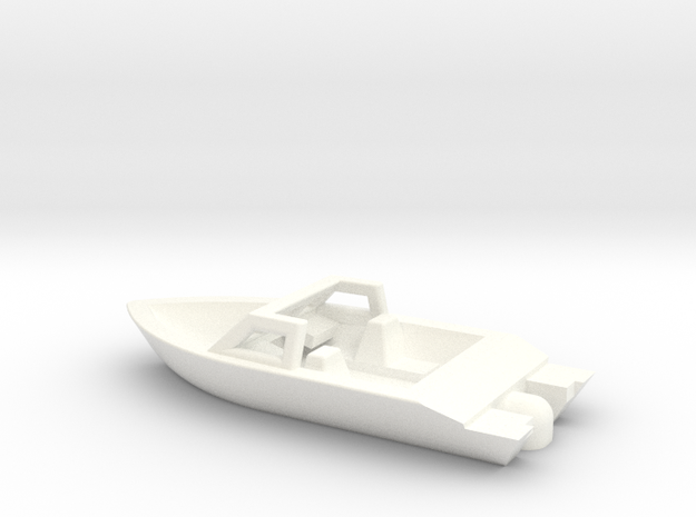 Z Scale Pleasure Boat in White Processed Versatile Plastic