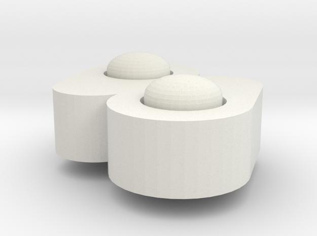 Twin Tears - Fidget Spinner in White Natural Versatile Plastic: Large