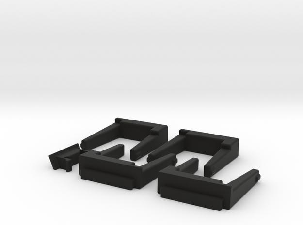 HP 41 port covers 4 Module 1 Side in Black Natural Versatile Plastic