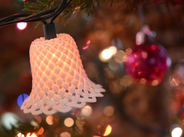 Woven Chistmas Light Bell 3d printed