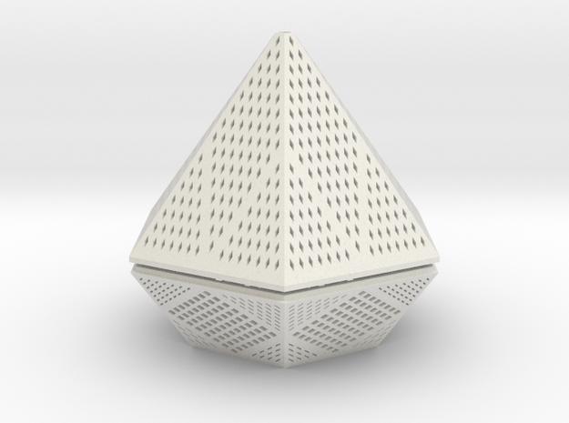 Diamond lampshade in White Natural Versatile Plastic