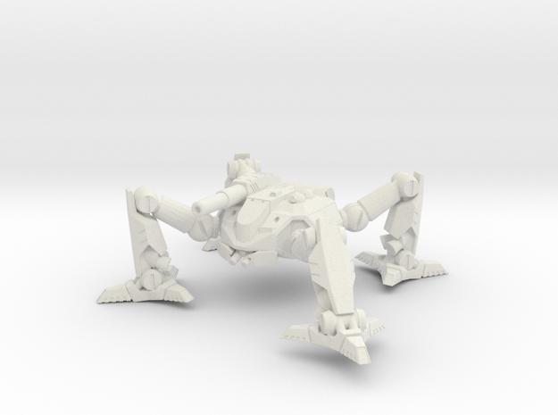 Mecha- Arachnid II (1 285th, mm) Multi-Part in White Natural Versatile Plastic