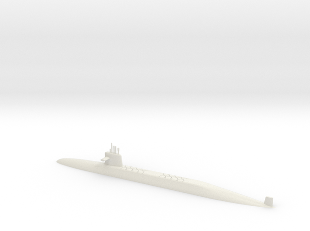 1/500 Le Triomphant Class SSBN (Waterline) in White Natural Versatile Plastic