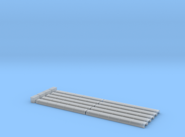 Blechkanal Form II Export 1:22,5 in Smooth Fine Detail Plastic