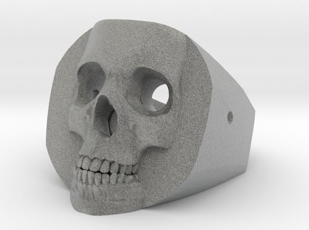 Skull Ring in Metallic Plastic: Medium