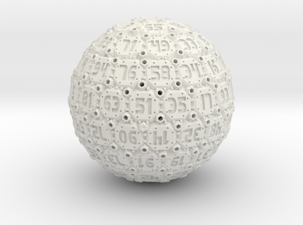 Tech Dice - D100 3d printed amazing frosted detail.