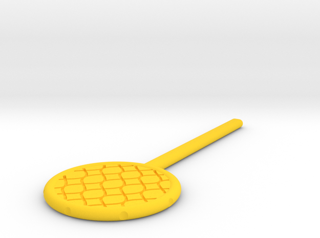 DIY Fishing Net Paddle Trick in Yellow Processed Versatile Plastic