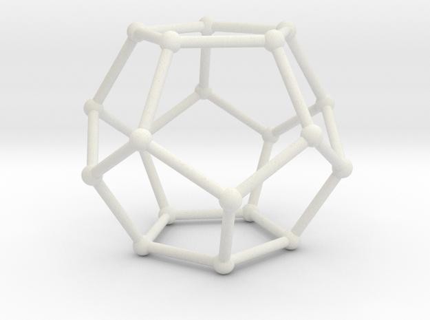 Pentahedronpieza in White Natural Versatile Plastic
