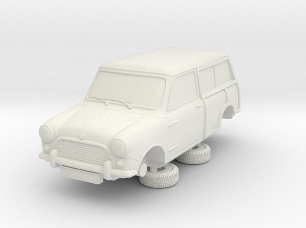 1-64 Austin Mini 64 Estate Clubman in White Strong & Flexible