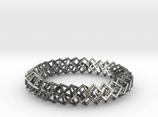 Blockchain Bracelet Extra Large in Interlocking Polished Silver