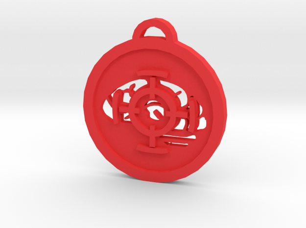 Psychonauts Marksmanship Badge Keychain in Red Processed Versatile Plastic