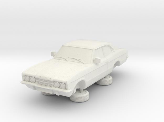 1-64 Ford Cortina Mk3 2 Door Standard in White Natural Versatile Plastic