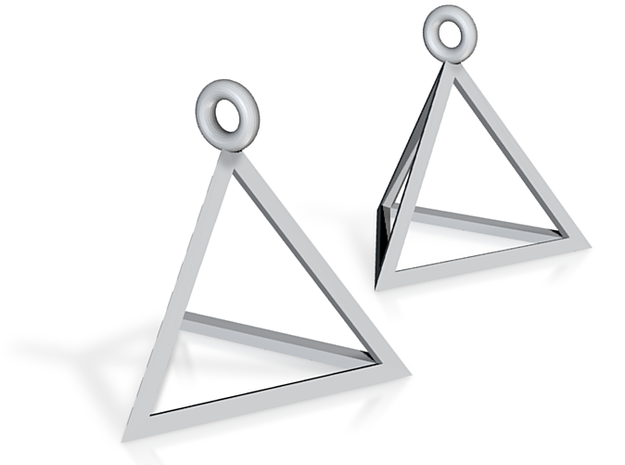 Tetrahedron Earrings