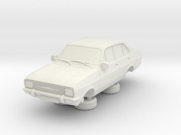 1-64 Escort Mk 2 4 Door Standard Square Head Light in White Natural Versatile Plastic