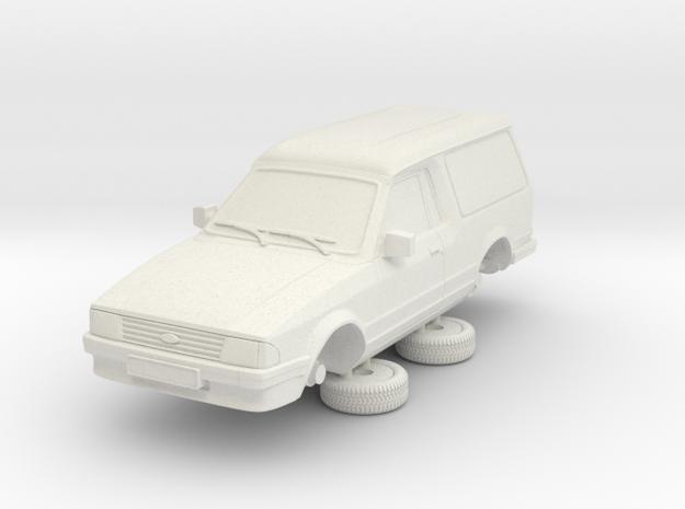 1-64ford Escort Mk3 2 Door Large Van in White Natural Versatile Plastic