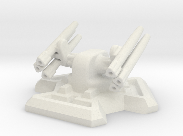 Missile Turret (6mm Scale / 20mm Hex Base) in White Natural Versatile Plastic
