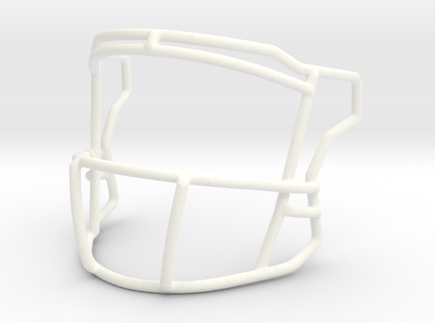 Base QB Mask in White Strong & Flexible Polished