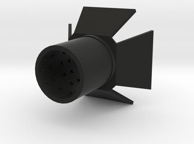 Mini Hood PrintB in Black Strong & Flexible