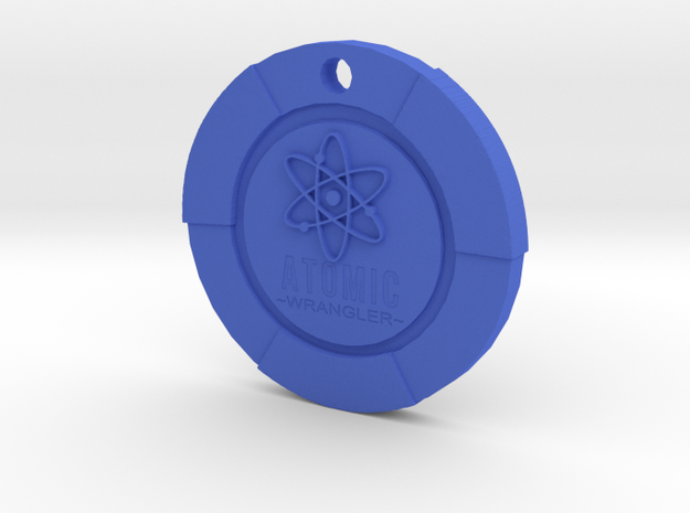 Atomic Wrangler Chip Pendant in Blue Processed Versatile Plastic