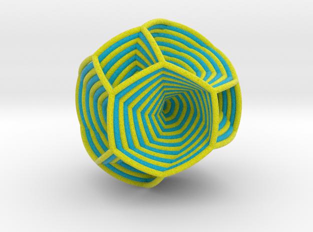 0413 Spherical Truncated Octahedron #005 in Full Color Sandstone