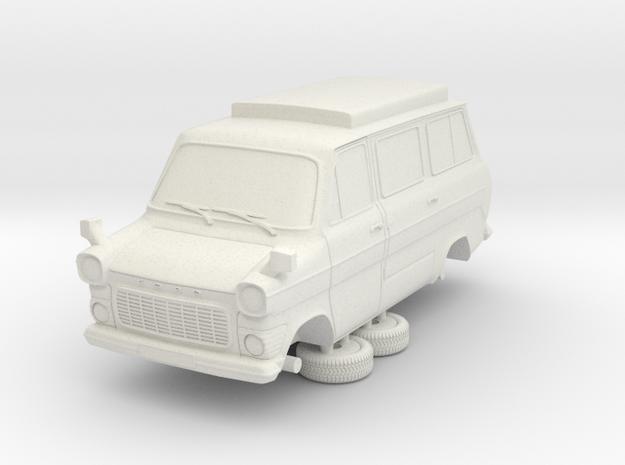 1-76 Ford Transit Mk1 Short Base Camper Van in White Strong & Flexible