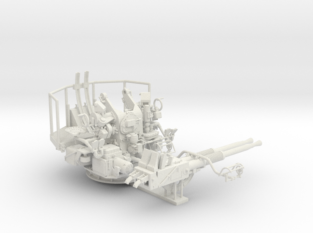 1/32 40mm Bofors Twin Mount USN WWII ships in White Natural Versatile Plastic