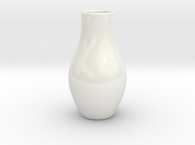 Hydrophora 2 Inch Net Pot (Style 2) in Gloss White Porcelain