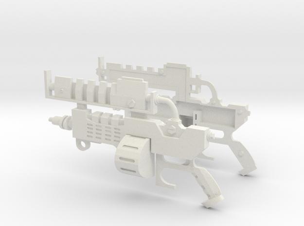 Mechanicus  Pistol Replica Prop  in White Natural Versatile Plastic