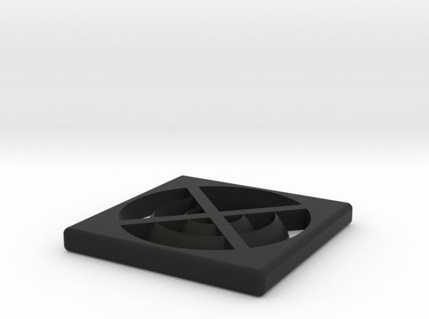 Commodore USA 64x Fan Vent in Black Natural Versatile Plastic