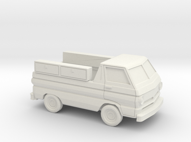 1/87 1964-70 Dodge A100 Service Pick Up in White Natural Versatile Plastic