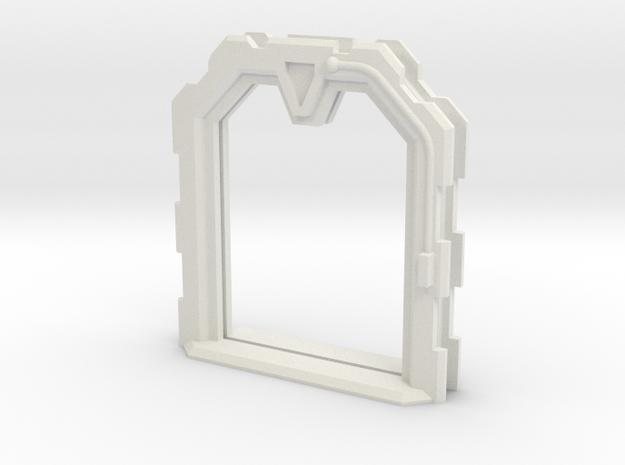Sci-Fi Door (Open) - 28mm - MDF Building Detail in White Strong & Flexible