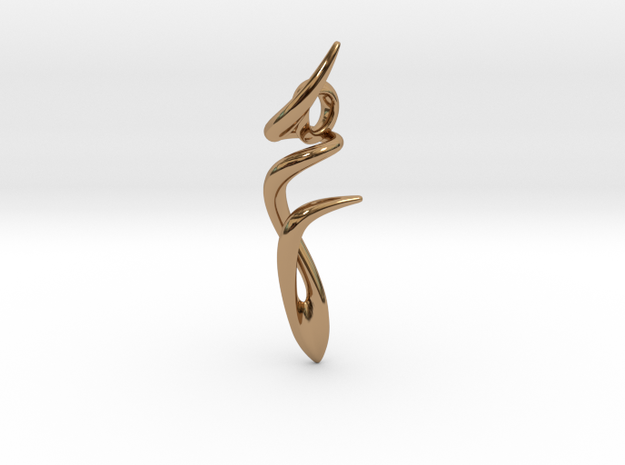Dancer Pendant in Polished Brass