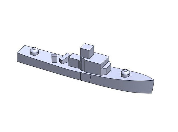 Assortment Generic Warships 1:6000 3d printed SMALL SHIP