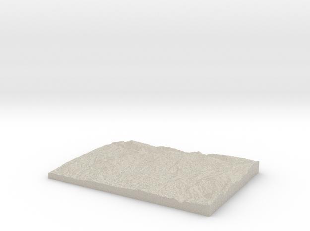 Model of Bellwood Estates in Natural Sandstone