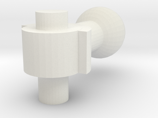 Replacement Shoulder Joint for Rockin' Action Mega in White Natural Versatile Plastic