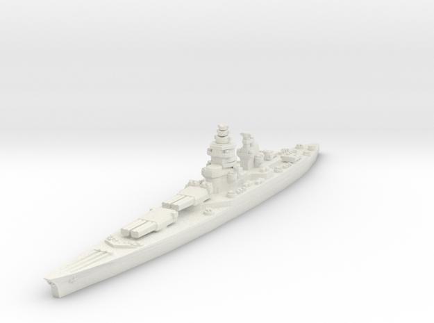 Richelieu battleship (1943 post-refit) 1/1800 in White Natural Versatile Plastic