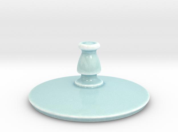 Antiquities Vessel Lid 163 in Gloss Celadon Green Porcelain