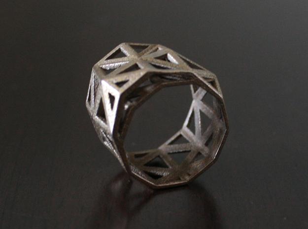 Geo Ring 3d printed