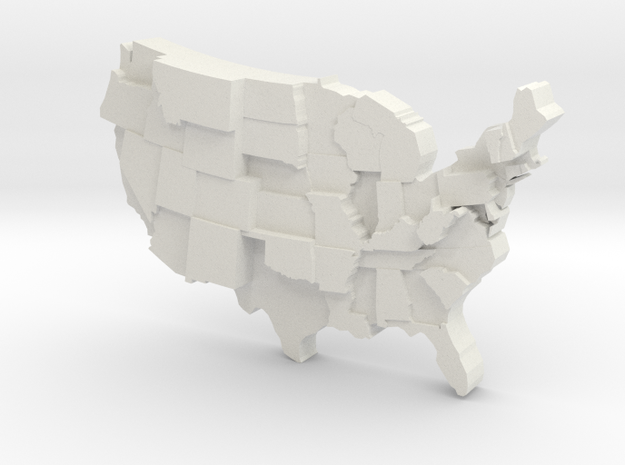 USA by Suicide  in White Natural Versatile Plastic