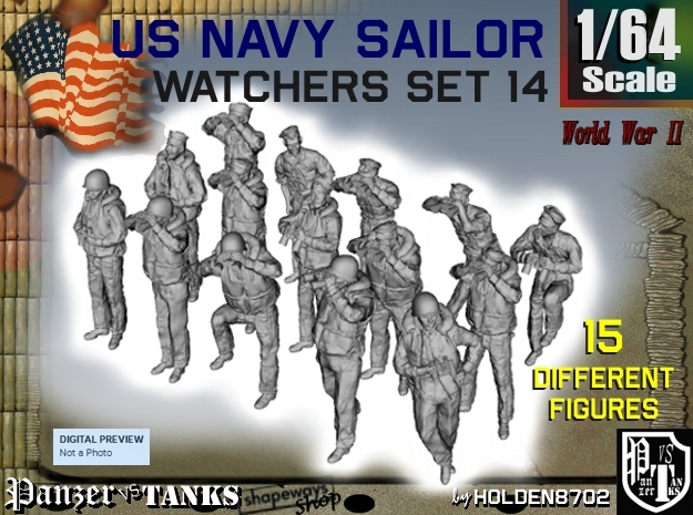 1-64 US Navy Watchers Set14 in Frosted Ultra Detail