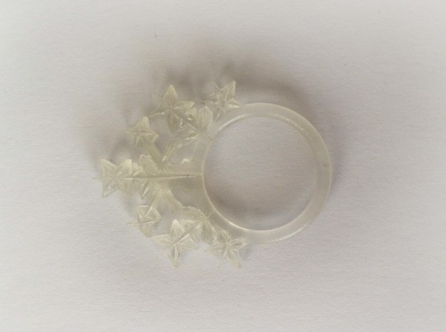 Snowflake style 2 size 7 3d printed