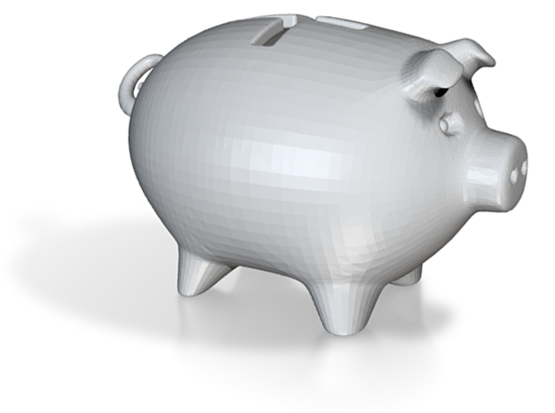 PPB[01] positive piggy bank 3d printed